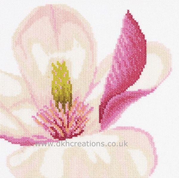 Magnolia  Flower  Cross Stitch Kit